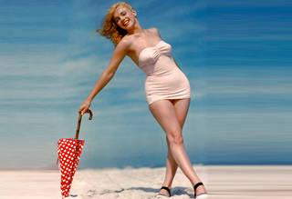 Jovem Marilyn Monroe.