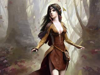 Fantasy-Mädchen mit einem Engelsgesicht