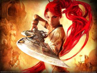 Fantasy ragazza con grande coraggio